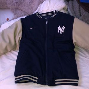 Reversible Yankees Nike Letterman Jacket